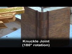 Make a Knuckle Joint in Wood - YouTube