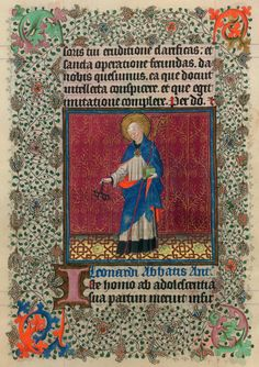 St. Leonard   Hours of Catherine of Cleves, in Latin   Illuminated by the Master of Catherine of Cleves   Utrecht, The Netherlands   The Morgan Library & Museum