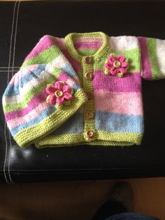 A personal favourite from my Etsy shop https://www.etsy.com/uk/listing/480577260/hand-knitted-baby-girl-cardigan-hat-set