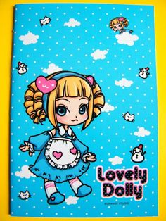 Lovely Dolly Blue Lolita Small Notebook With Lines. $1.95, via Etsy.