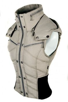 Canadian winter weather ready corset vest design to inspire http://LuxeFlesh.ca/ styles..