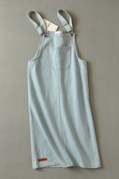 Blue Denim Sleeveless Overall