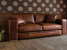 The Big One! A giant super-sized vintage leather sofa with an incredible depth of 130cm!  #furniture #leather #sofa #settee #livingroom #indigofurniture #leather