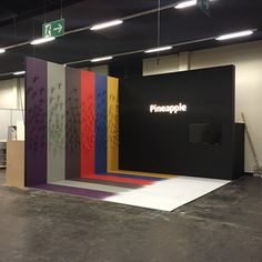 Pineapple Exhibition Stand for Orgatec. Built by Maken www.make.co  #exhibitionstand #tradeshow #boothbuild #b2b #boothdesign #display #design #branding