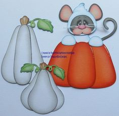 Premade Halloween Mouse Paper Piecing Set for Scrapbook Pages by Babs | eBay