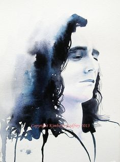 "Loki Tom Hiddleston Art Print of Original Watercolour Painting Portrait Burdened 8 x12 "" inches A4 Home Decor Thor Indigo"