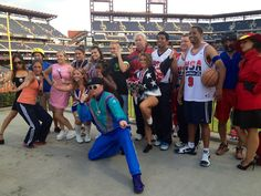 Flashback! It was 1990's Retro Night at the Phillies game on August 22nd. Can you name all the characters?