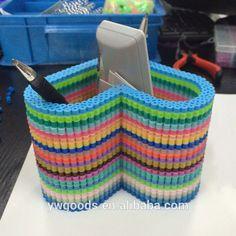 Colorful heart holder perler beads