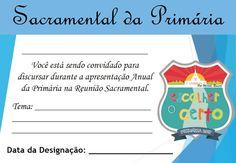 As Tontas Vão Ao Céu: Cartões de Designações - Apresentação Anual da Pri...