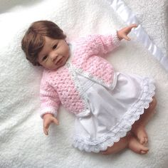 66e430c56 Baby crochet coat 0 to 4 months Blue matinee coat Baby