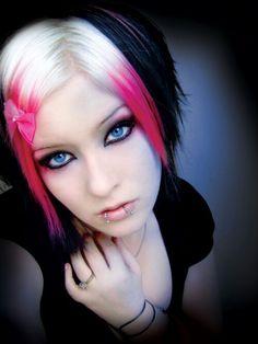 Pink black platinum blonde