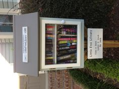 The little free library - someday I will have this at my house....well at the curb but at my house. <3 jd