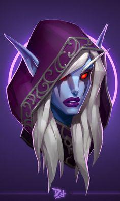 Sylvanas Windrunner - World of Warcraft World Of Warcraft Game, Warcraft Movie, Warcraft Characters, Fantasy Characters, Female Characters, Dota Warcraft, Warcraft Art, Lady Sylvanas, Banshee Queen