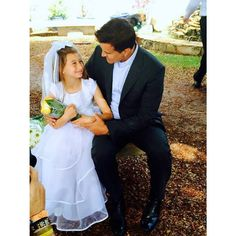 Posted by Scott Stapp on 6-29-15: Looking into the eyes of my little angel Milan with pride and love at her First Communion.