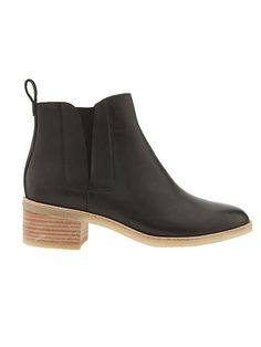 Phenia Cresent by Clarks - Clarks® is upping their boot game with this super chic, black leather style with a wooden stacked heel (hello, go-to bootie).