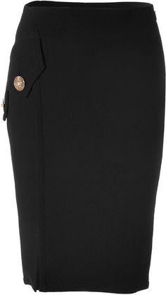 Versace Pencil Skirt with Medusa Buttons (a favourite repin of VIP Fashion Australia - providing a portal to exclusive fashion au and style from across the globe.  www.vipfashionaustralia.com - Specialising in blacklabel fashion - womens clothing Australia - global fashion houses - Italian fashion and fashion boutiques )