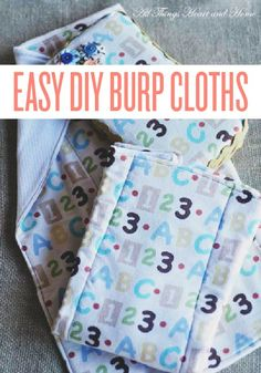 If you love making necessities like these special for mom-to-be, check out this idea for DIY burp cloths.
