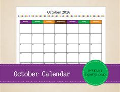 Printable May 2016 Calendar Seasonal monthly by MBucherConsulting Printable Calendars, Printable Planner, Printables, August Calendar, 2016 Calendar, School Planner, Monthly Planner, Be Yourself Quotes, Trip Planning