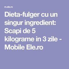 Dieta-fulger cu un singur ingredient: Scapi de 5 kilograme in 3 zile - Mobile Ele.ro Paramore, Pavlova, Smoothies, Health Fitness, Workout, Desserts, Sport, Lady Gaga, Fabrics