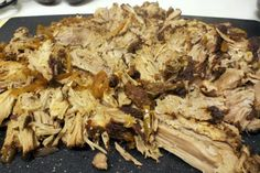 Crock Pot Shredded Pork - no liquid used, just a dry rub = amazing flavor and juicy meat