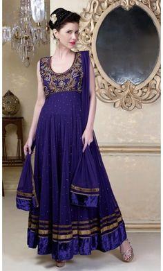 Aesthetic Mystic Blue & Navy Blue Salwar Kameez