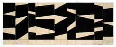Ellsworth Kelly, Project for a Sculpture, Collage and ink, 4 x 12 inches; x cm, Works in Exhibition - Matthew Marks Gallery Ellsworth Kelly, Hard Edge Painting, Painting & Drawing, Abstract Geometric Art, Foto Art, Art Lessons, Art Drawings, Composition, Illustration Art