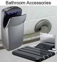 Grab bars toilets and public on pinterest - Commercial bathroom door handle ...