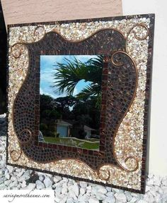 a diy mosaic mirror that only looks expensive, crafts, wall decor, Finally The results are in