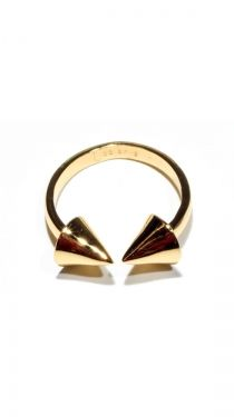 Gold Spike Double Header Ring - Gold