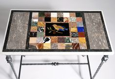 One off #pietradura #marble #table by Matt Hurley of Devon, A great investment piece.
