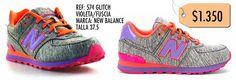 Zapatillas New Balance Referencia 574 Glitch Violeta/Rosa