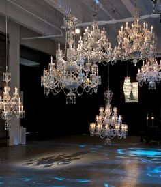 Yes......arriving at the rock star entrance in Waterforsd Ireland~~~~~~Waterford Crystal Chandeliers
