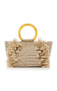 26cd2a7212 Corallina Amber Raffia Bag by CAROLINA SANTO DOMINGO for Preorder on Moda  Operandi Sac Au Crochet