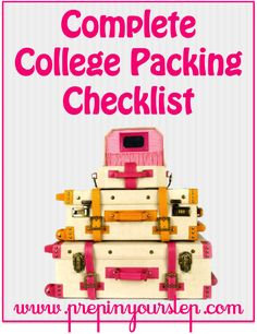 The Complete Spring Break Packing List Cute Suitcases, Vintage Suitcases, Vintage Luggage, Vintage Trunks, College Packing Checklist, Packing Tips, Cute Luggage, Luggage Bags, Luggage Suitcase
