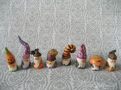 NOM 1100 mini gnome figure by littledear on Etsy NOMs are ready for Halloween! - these are adorable!