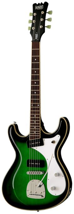 Eastwood Sidejack Baritone DLX Guitar (Greenburst)