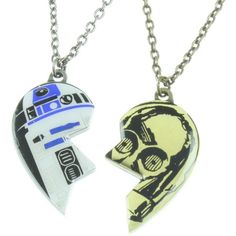 Star Wars R2-D2 C-3PO Best Friends Necklace Set ($8.99) ❤ liked on Polyvore featuring jewelry and r2