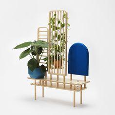 Etta By zilio a&c, multi-layer wood bench / room divider design Dossofiorito