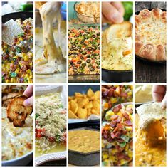 25 Party Dip Recipes - from hot and cold to sweet and salty.  There's a dip for every taste~