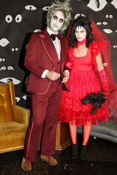 Beetlejuice and lydia beetlejuice lydia halloween costume beetlejuice how awesome is this solutioingenieria Gallery