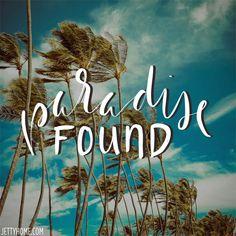 Where's your paradise? #paradisefound #beachquotes #beachliving #coastaliving #coastallife #beachlife #oceanquotes #tropicalquotes