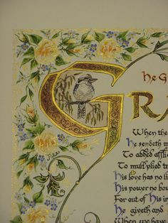 Illuminated Calligraphy Made to Order  Commission por angelworx