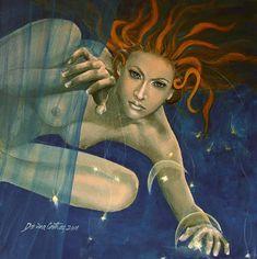Artwork by Dorina Costras - Zodiac Series - Leo