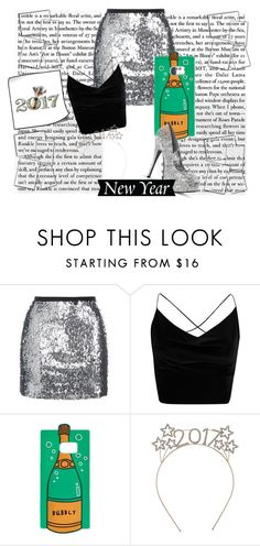 """""""New Year Party"""" by skyes-are-blue on Polyvore featuring Topshop, Boohoo and Whimsical Shop"""