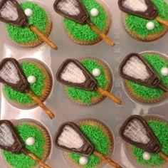 Lacrosse chocolate cupcakes