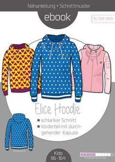 Family Ebook Hoodie Elice_MAelice_PAelias - Schnittmuster und Anleitung als PDF Datei A4