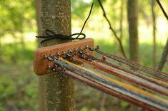 Swivels for tablet weaving / Weaving post / Tool, turning yarn back / Card weaving / Tablet weaving / Braid weaving / for 16 weaving cards Inkle Weaving, Weaving Tools, Card Weaving, Weaving Process, Weaving Techniques, One Photo, Tablet Weaving Patterns, Hexagon Cards, Linen Bag