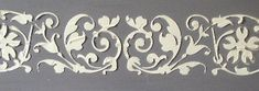 Raised Plaster Stencil Katherine Border, Wall Stencil, Painting Stencil, Decorative Stencil by ElegantStencils Tree Stencil, Stencil Painting, Painting Tips, Stenciling, Stencil Decor, Office Paint, Plaster Molds, Plaster Art, Embossed Wallpaper