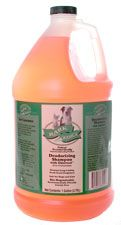 Bark 2 Basics Deodorizing Pet Shampoo - Dilutes 16:1    Deodorizing Shampoo with Odortrol is a gentle, natural all-purpose deep cleaning shampoo specially formulated for professional groomers to get those really dirty, smelly dogs fresh and clean. Deodorizing Shampoo with Odortrol's unique formula effectively eliminates odors, yet is mild enough to use on pets of all ages. It contains no harsh additives or ingredients that build up on the coat.