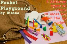 Pocket-Playground - 8 different items, 50 activities to keep them busy. Ideal for trips and holidays. Love it.